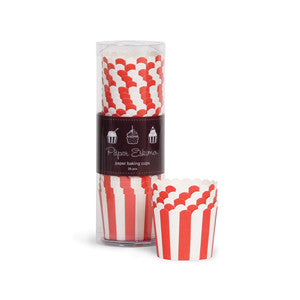 Baking Cups Red & White Stripes - Paper Eskimo - 1