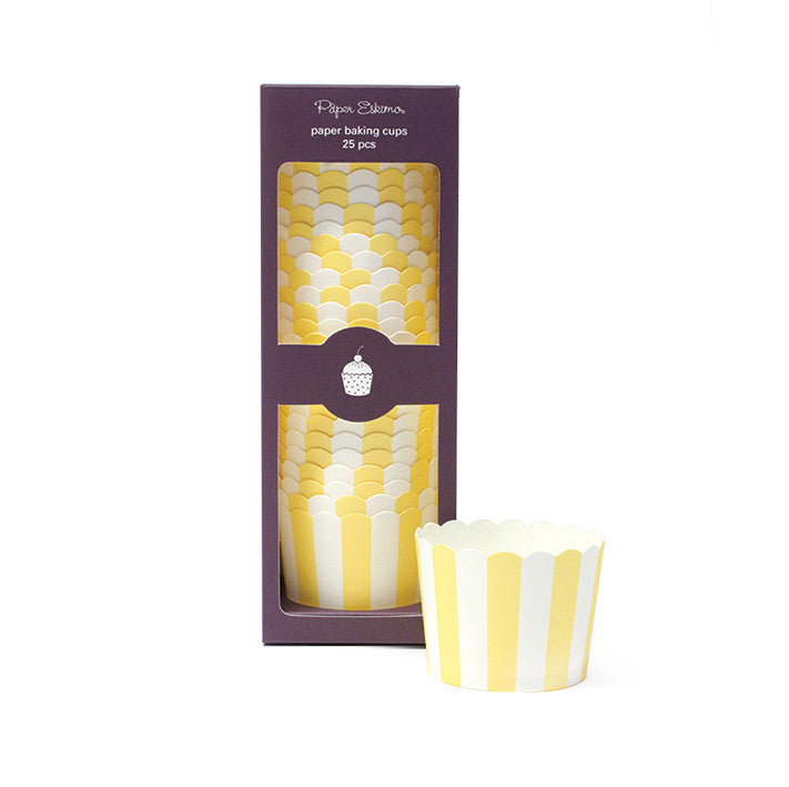 Baking Cups Limoncello Stripes - Paper Eskimo