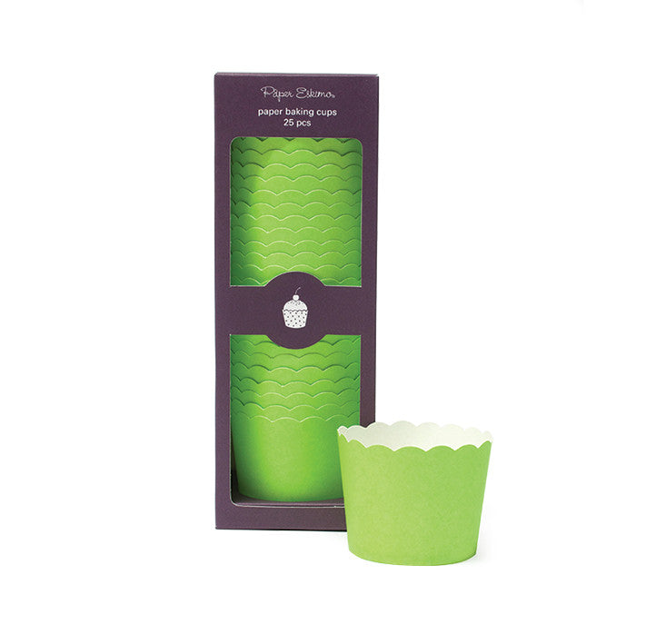 Baking Cups Solid Green - Paper Eskimo