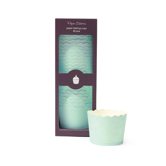 Baking Cups Solid Mint - Paper Eskimo