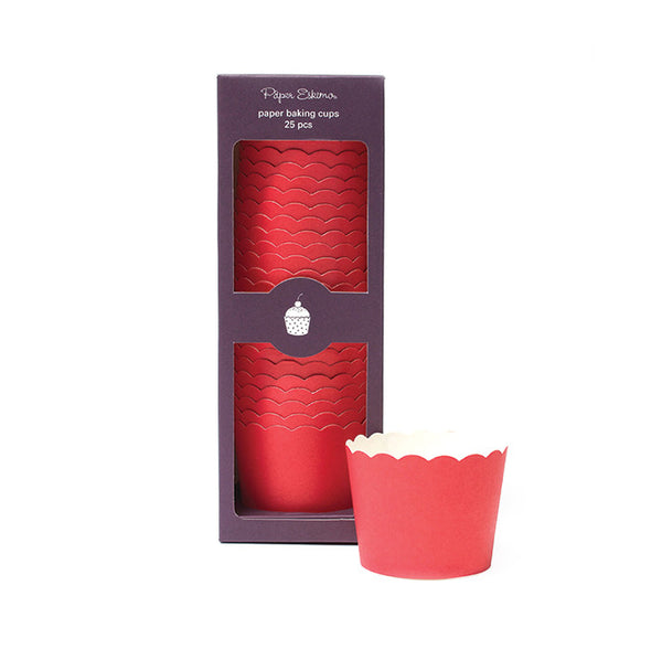 Baking Cups Solid Red - Paper Eskimo