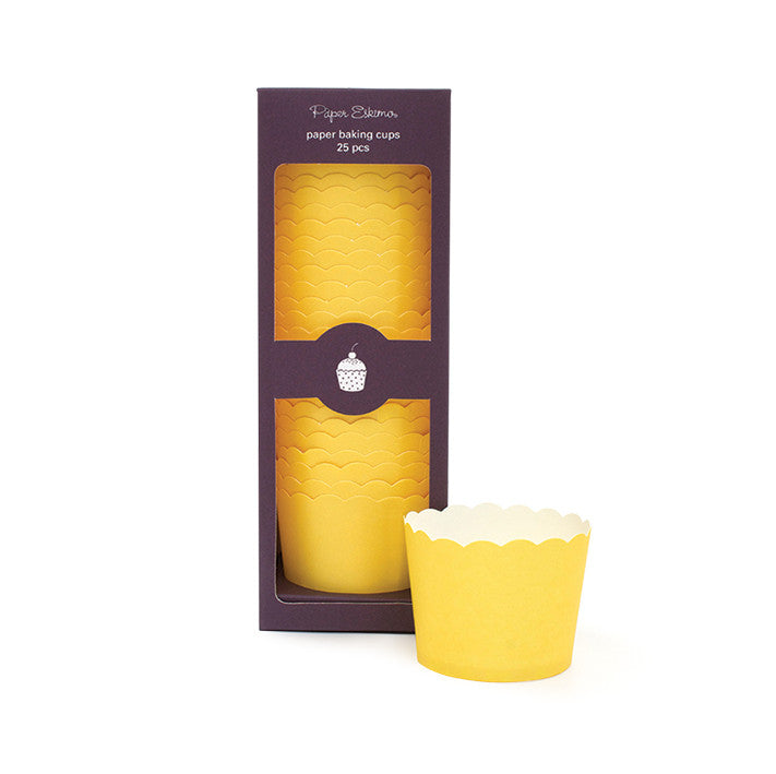 Baking Cups Solid Yellow - Paper Eskimo