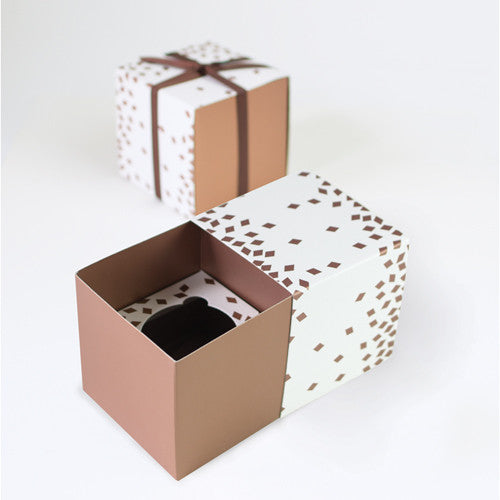 Cupcake Box Geo Rose Gold 6pcs - Paper Eskimo