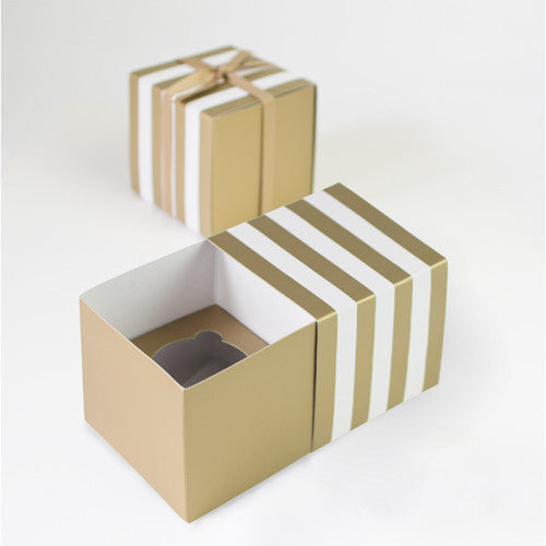 Cupcake Box Gold Crush 6pcs - Paper Eskimo
