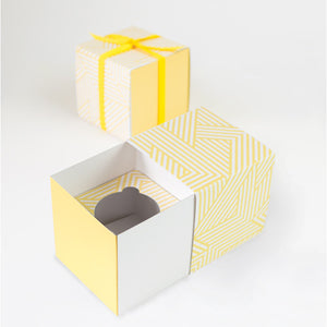 Cupcake Gift Box Hello Yellow - Paper Eskimo