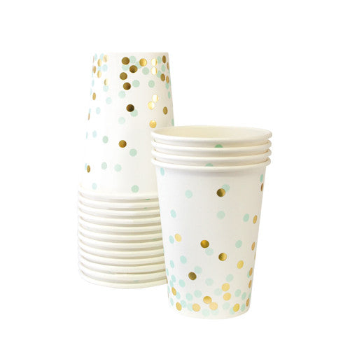 Paper Cups Mint To Be 12pcs - Paper Eskimo
