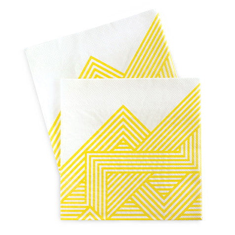 Paper Napkins Hello Yellow 20pcs - Paper Eskimo