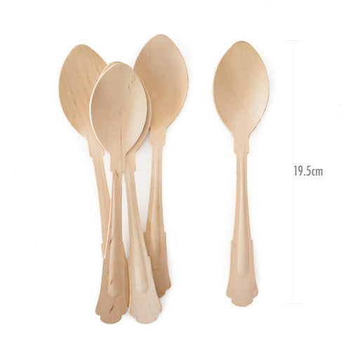 Wooden Cutlery Deluxe Spoons 24pcs - Paper Eskimo