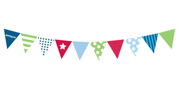 Party Flags Blue Style - Paper Eskimo - 3