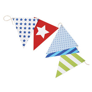 Party Flags Blue Style - Paper Eskimo