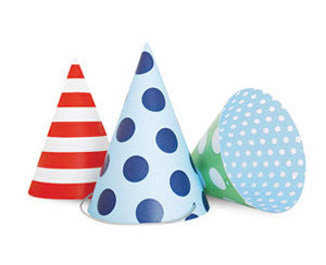 Party Hats Blue Style - Paper Eskimo - 2