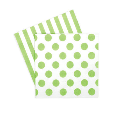 Cocktail Napkins Apple Green - Paper Eskimo