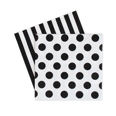 Cocktail Napkins Black Tie 20pcs - Paper Eskimo