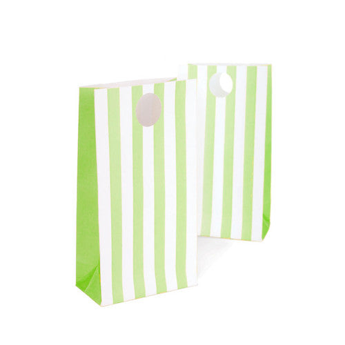 paper eskimo party bags 12 pack apple green