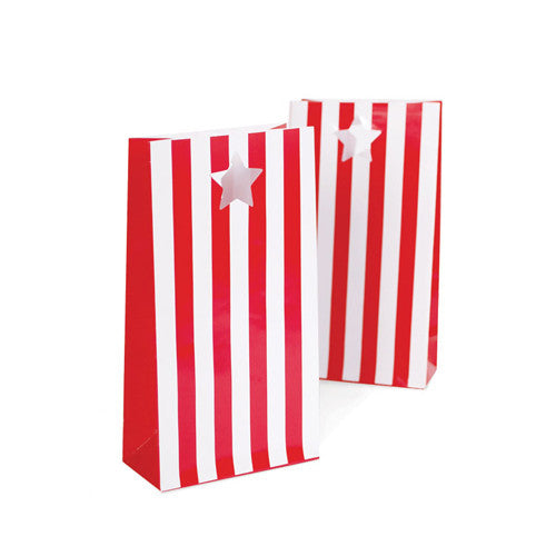 paper eskimo party bags 12 pack candy cane red