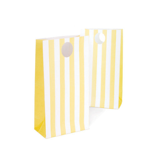 paper eskimo party bags 12 pack limoncello yellow