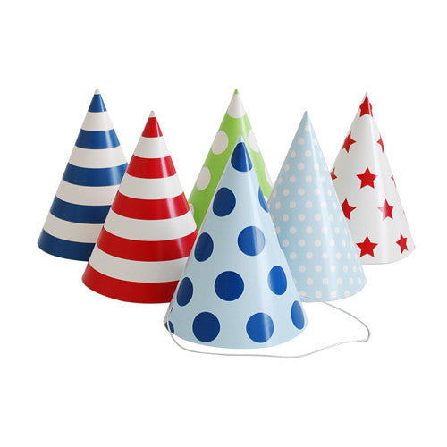 Party Hats Blue Style - Paper Eskimo
