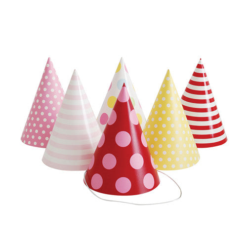 Party Hats Pink Style - Paper Eskimo