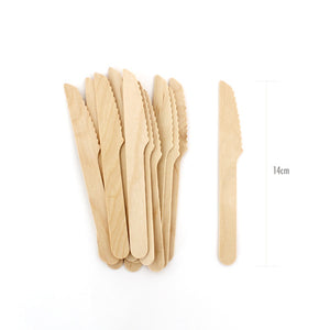 Wooden Cutlery Petite Knives 24pc - Paper Eskimo