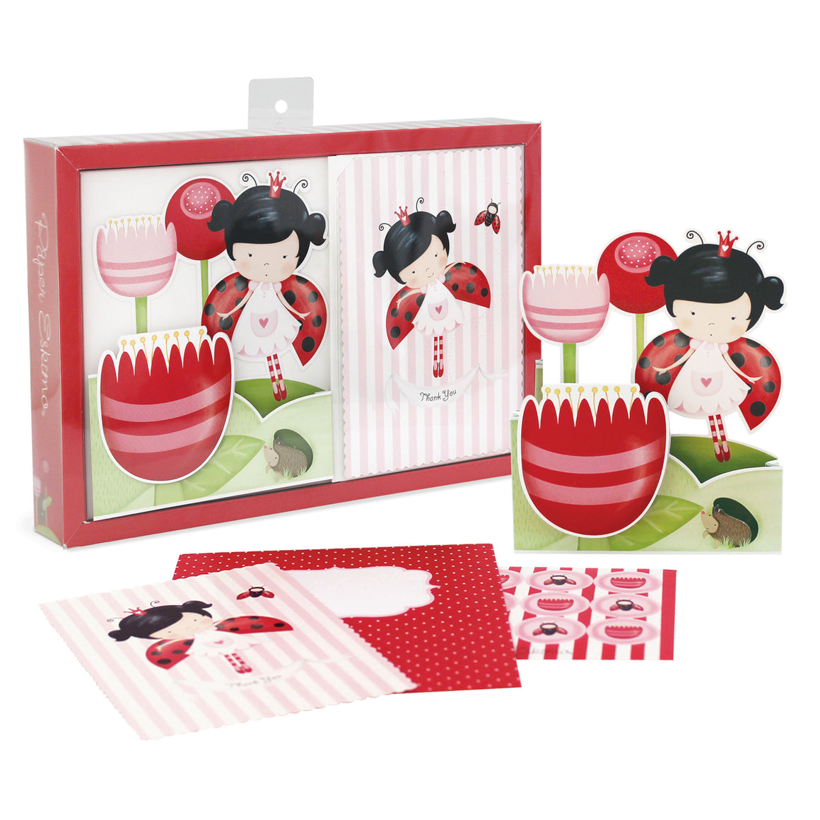 lady beetle theme birthday party invitations by paper eskimo