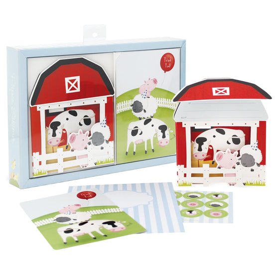farmyard animal birthday party invitations by paper eskimo