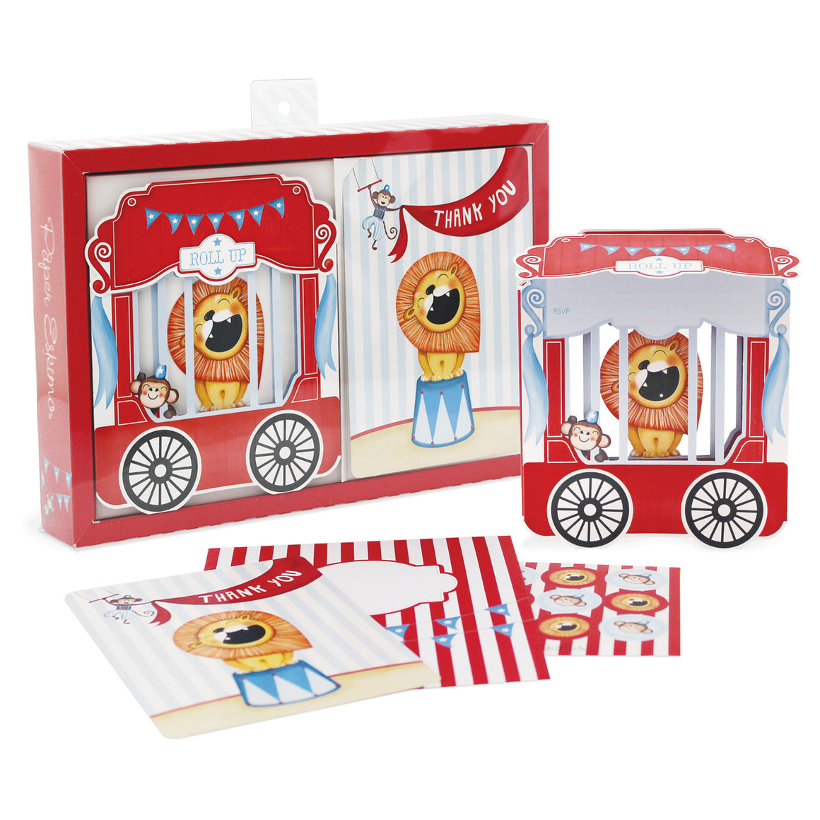 circus theme birthday invitations by paper eskimo