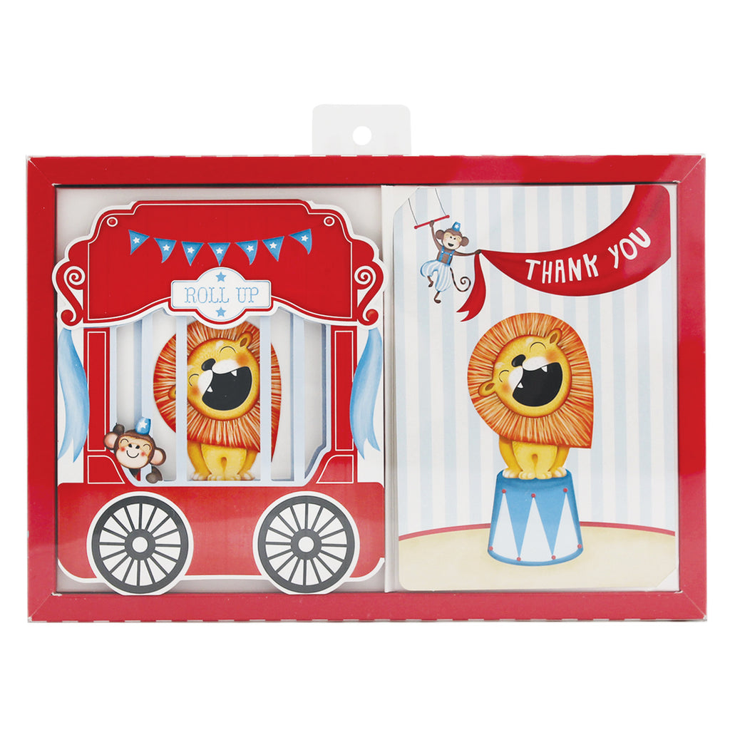 Birthday Party Invites Roll Up Circus - Paper Eskimo - 2