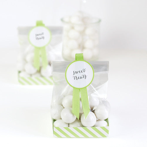 Treat Bag Apple Green 12pcs - Paper Eskimo