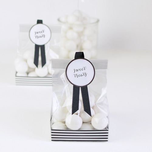 Treat Bag Black Tie 12pcs - Paper Eskimo