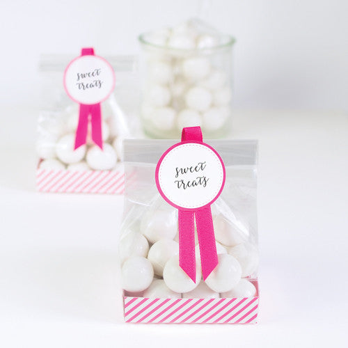 Treat Bag Pop Pink 12pcs - Paper Eskimo
