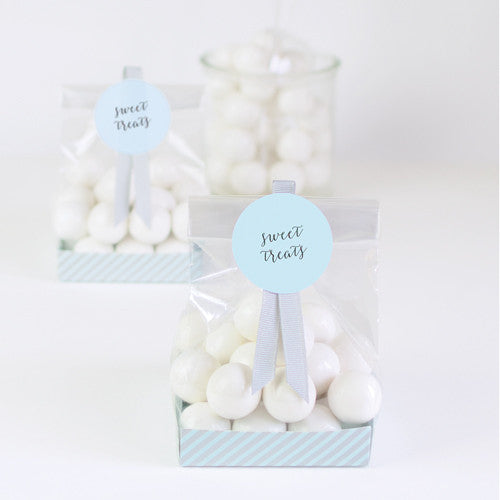 Treat Bag Powder Blue 12pcs - Paper Eskimo
