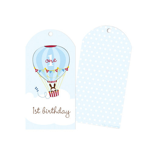 First Birthday Boy Party Tags - Paper Eskimo