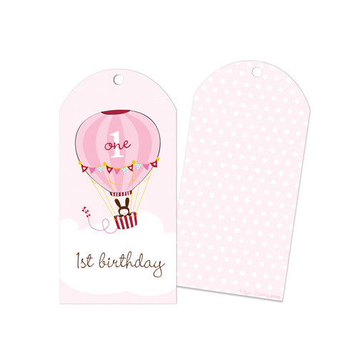 First Birthday Girl Party Bag Tags - Paper Eskimo
