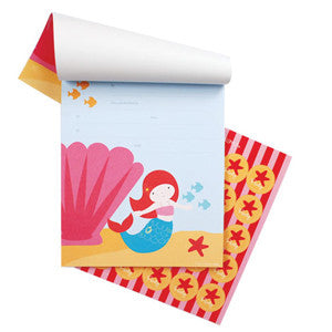 Mermaid Notepad Invitations - Paper Eskimo