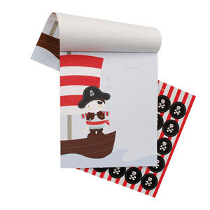 Pirate Notepad Invitations - Paper Eskimo