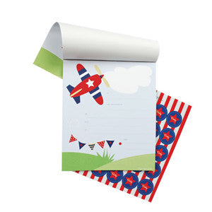 Plane Notepad Invitations - Paper Eskimo