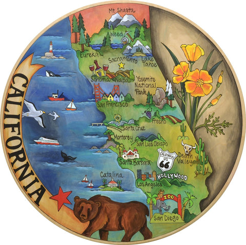 California Dreaming Lazy Susan 18""