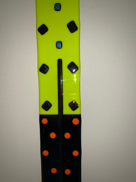 "Lime Green Fused Glass Bar - 2.5""  36"""