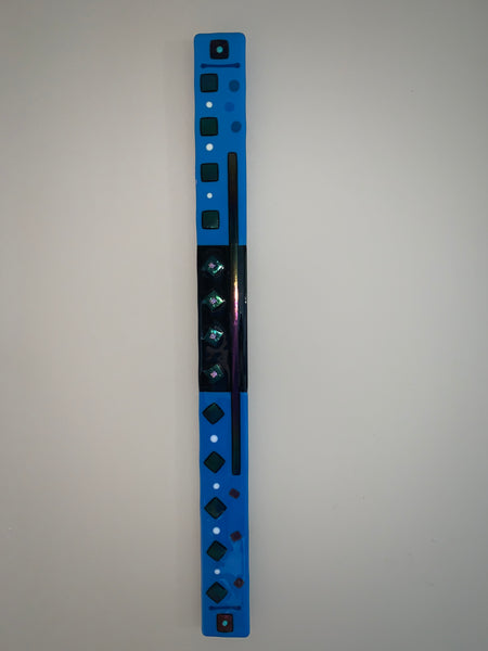 "Blue Fused Glass Bar - 2.5""  36"""