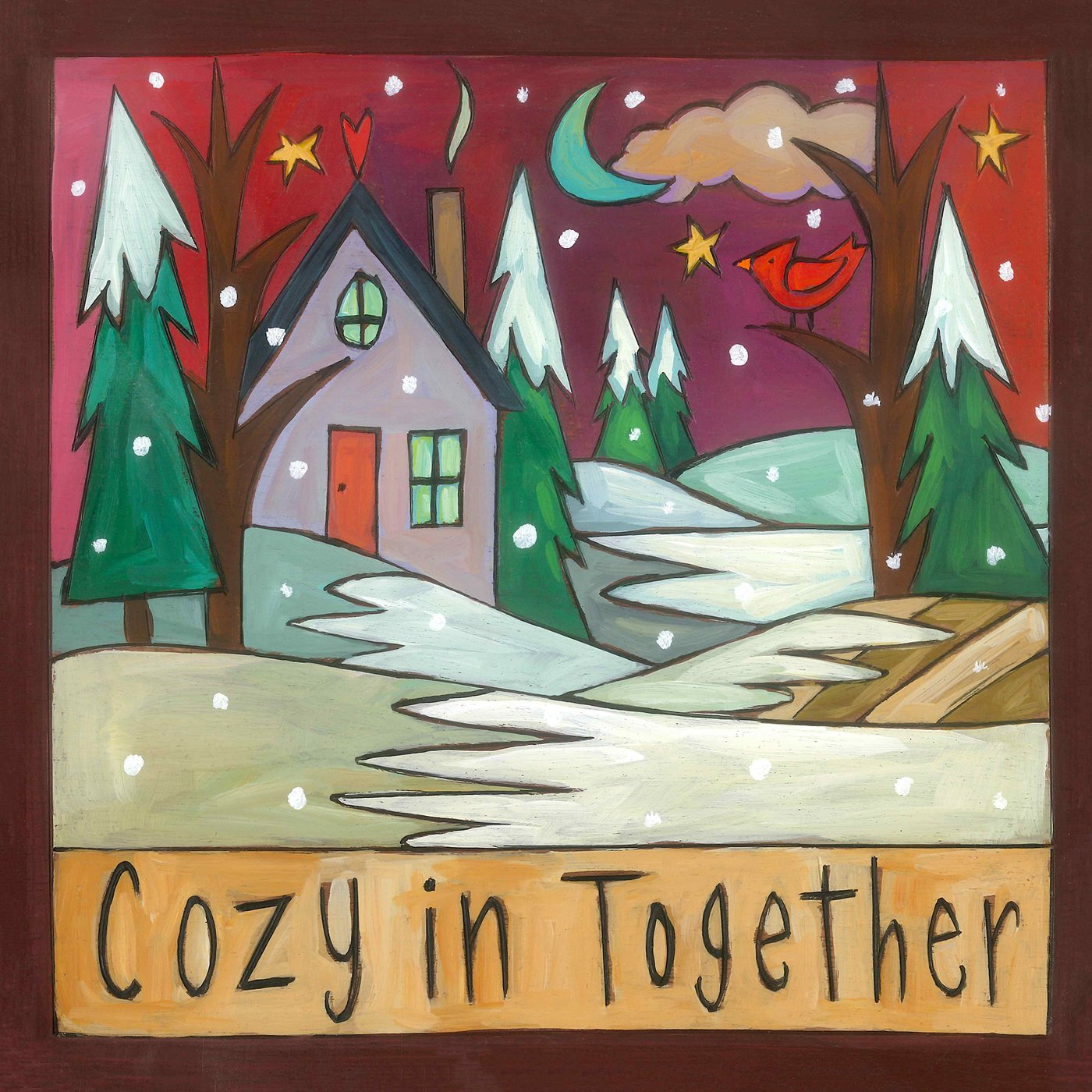 """It's Cozy Time"" Plaque"