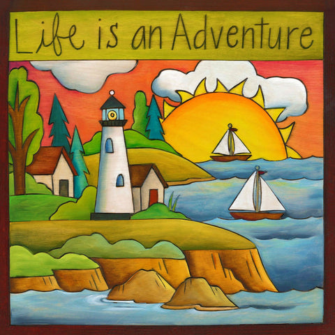 """Life Is An Adventure"" Plaque"