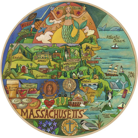 Magnificent Massachusetts Lazy Susan 18""