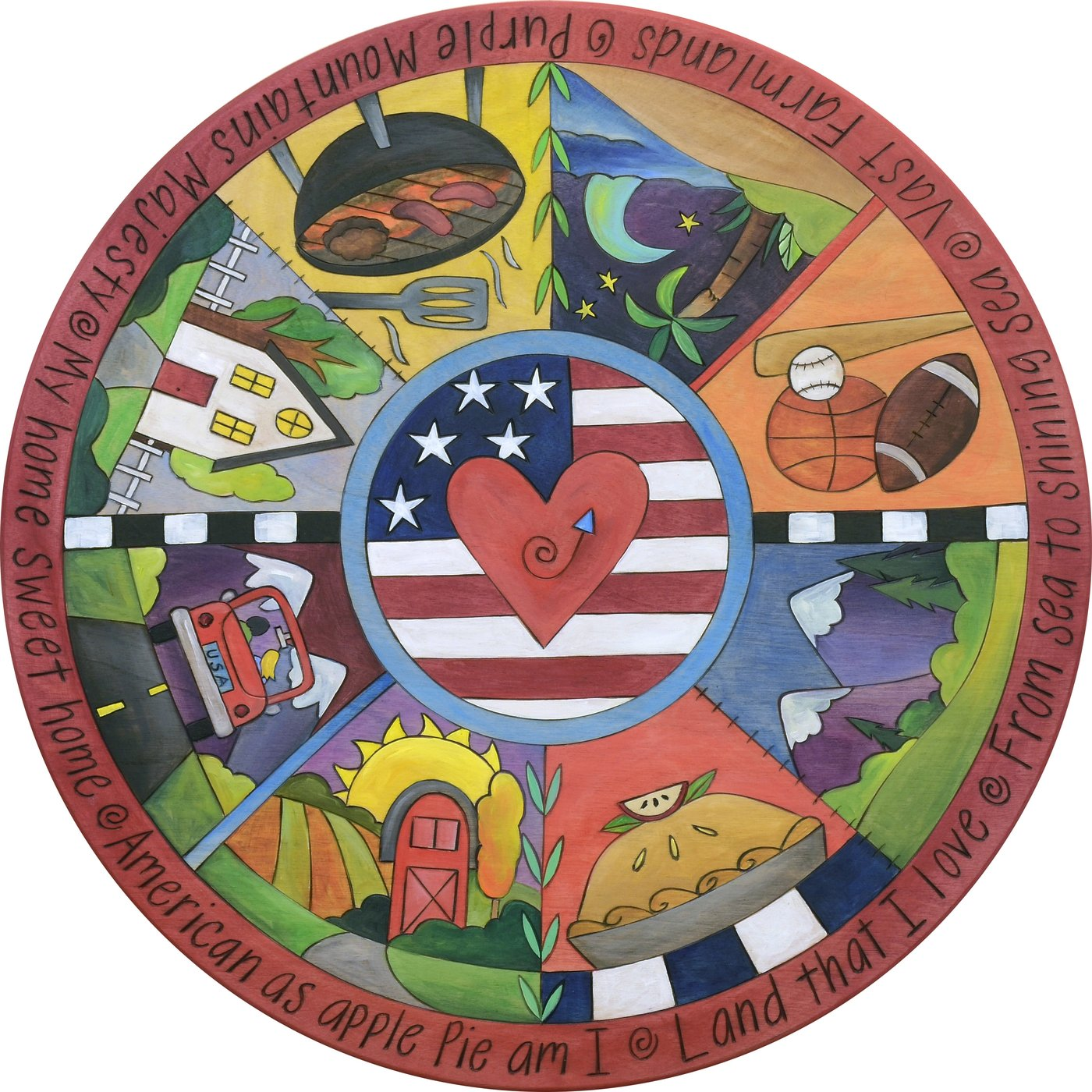 Party In The USA Lazy Susan 18""