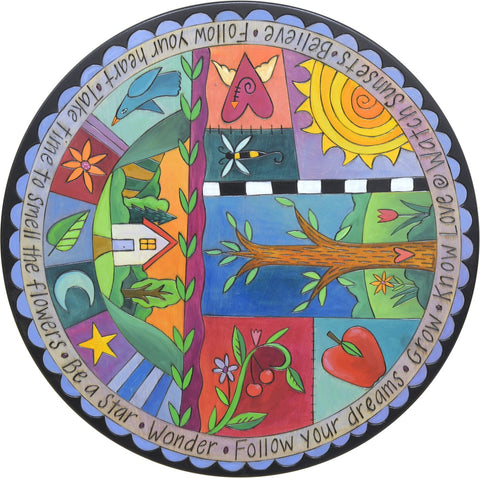 Rhapsody in Blue Lazy Susan 18""