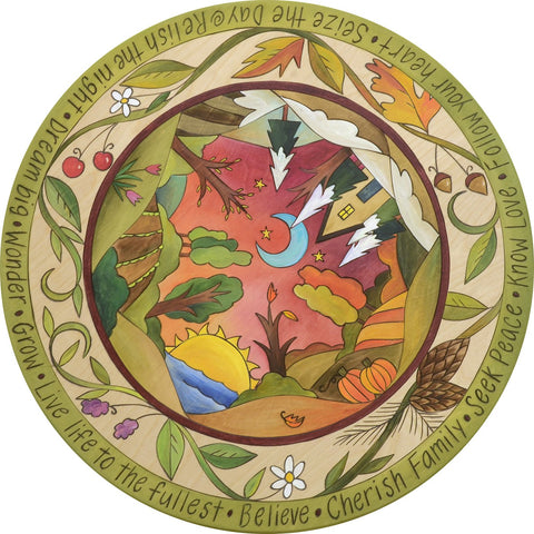 Seasonal Bliss Lazy Susan 18""