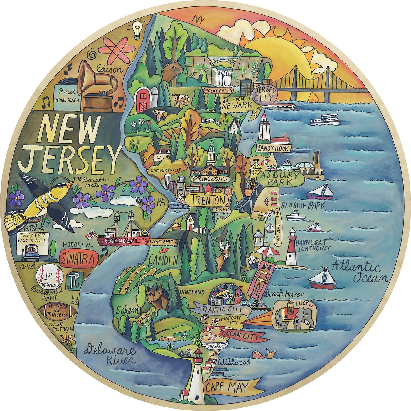 The Glorious Garden State Lazy Susan 18""