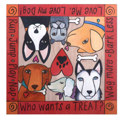 """What's Your Dog Trick?"" Dog Treat Box"