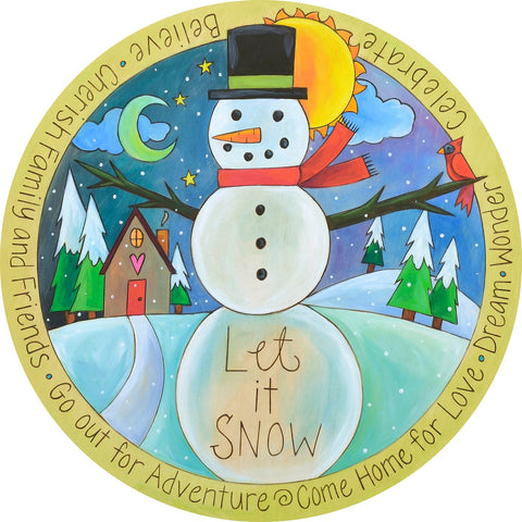 Winter Wonderland Lazy Susan 18""
