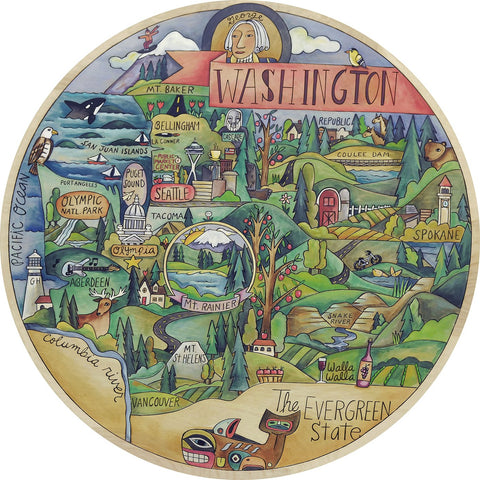 Wonderful Washington Lazy Susan 18""