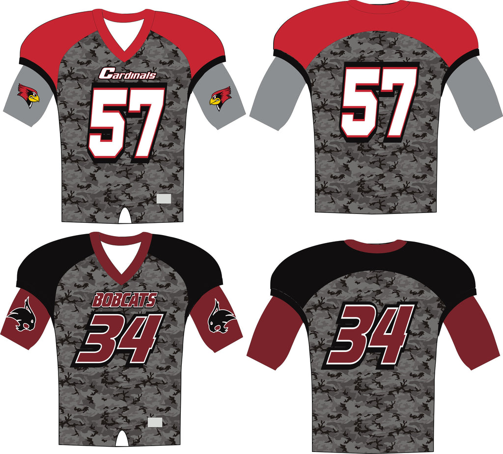 camo football jerseys